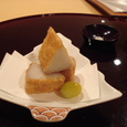 海老芋の揚げ物