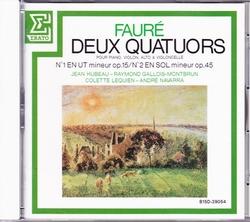 Faure_deux_quatuors